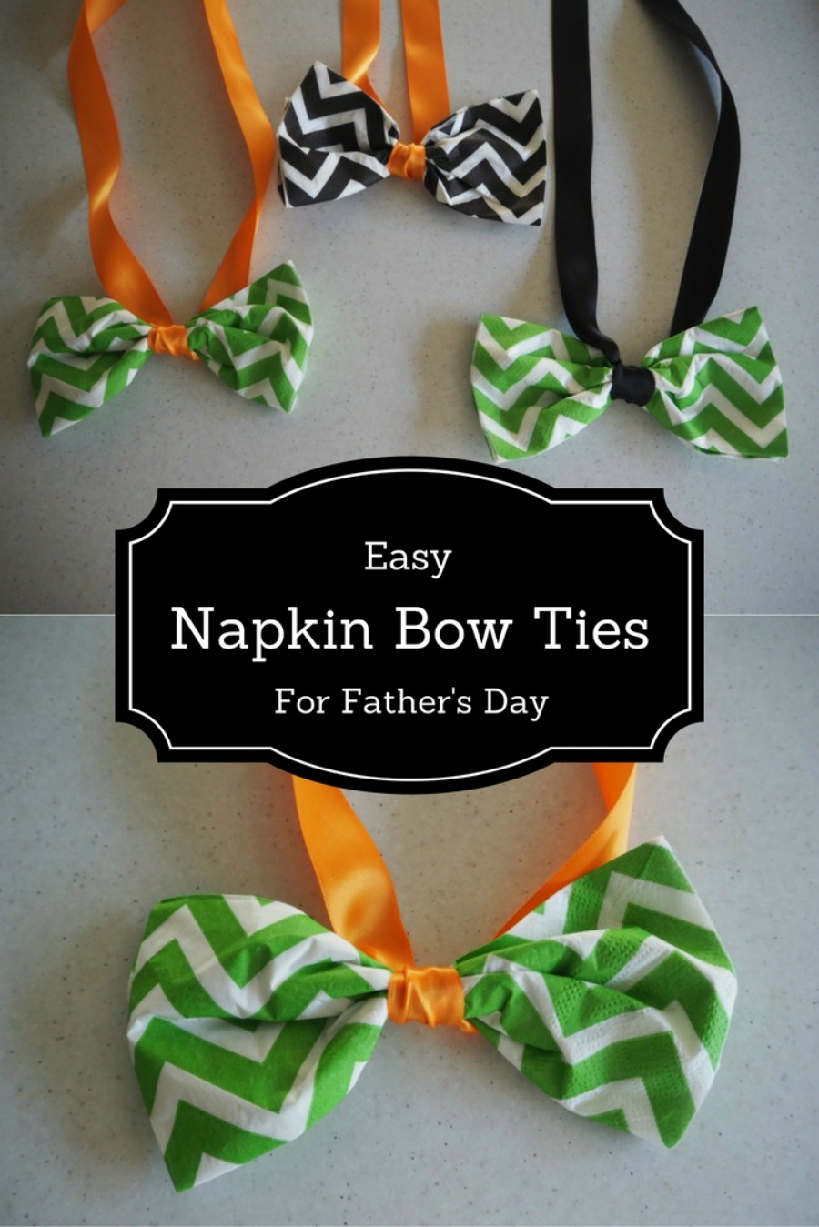 Napkin bow ties father's day
