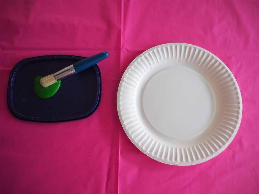 paint paper plate