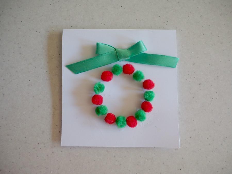 christmas pom pom gift cards