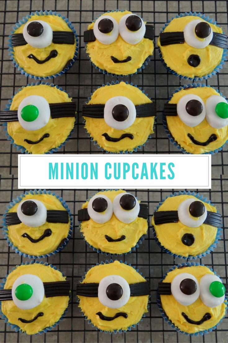 Simple Minion Cupcakes
