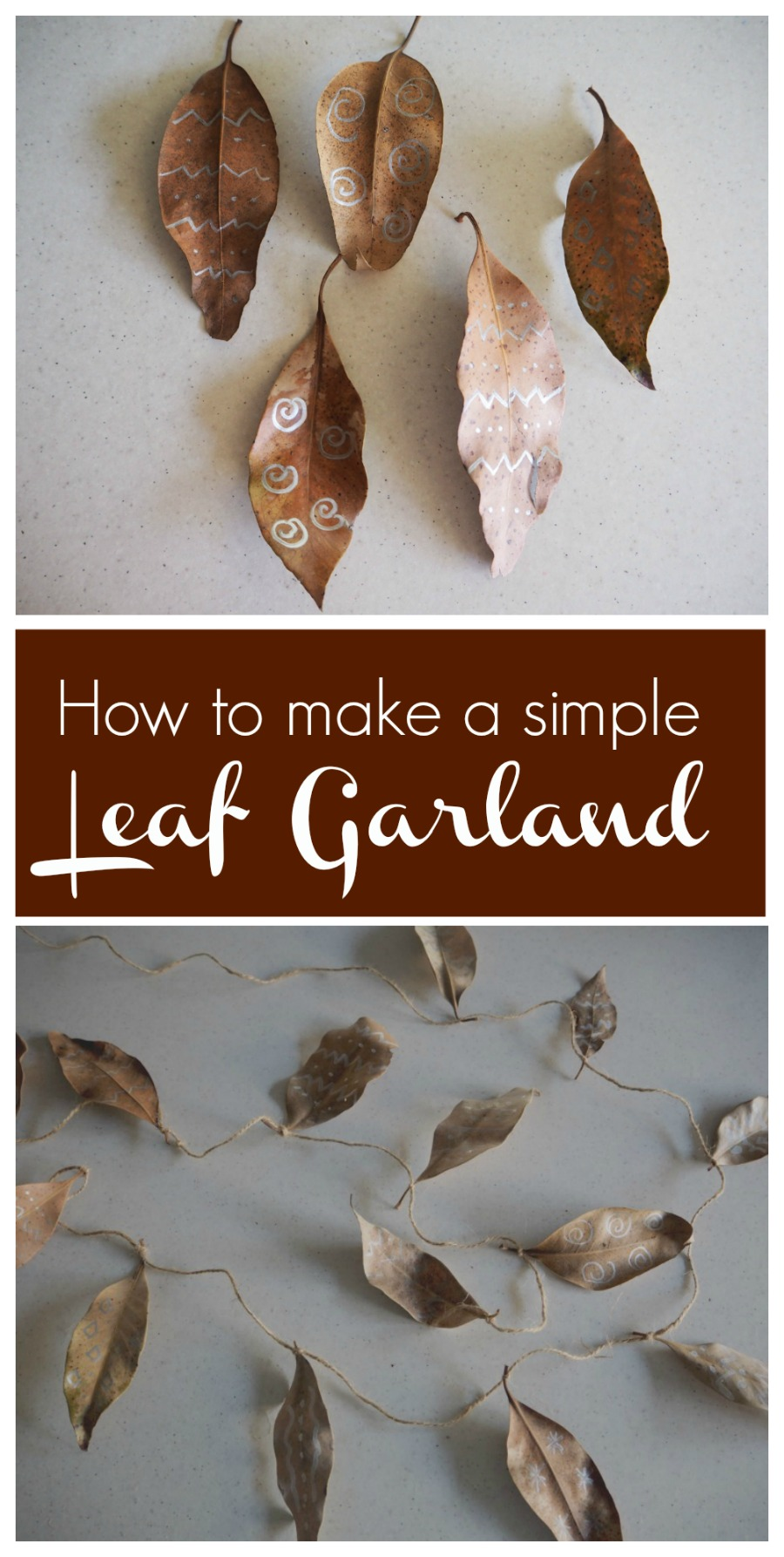 how to make a leaf garland
