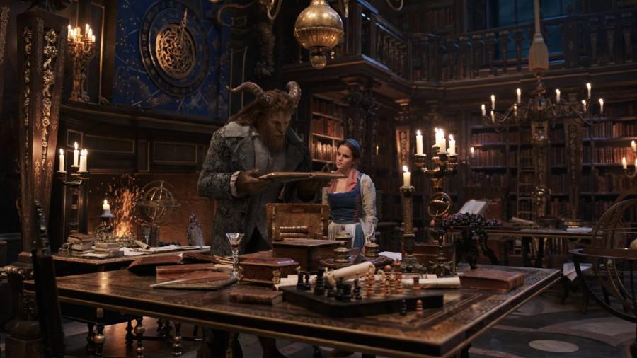 Dan Stevens as The Beast and Emma Watson as Belle