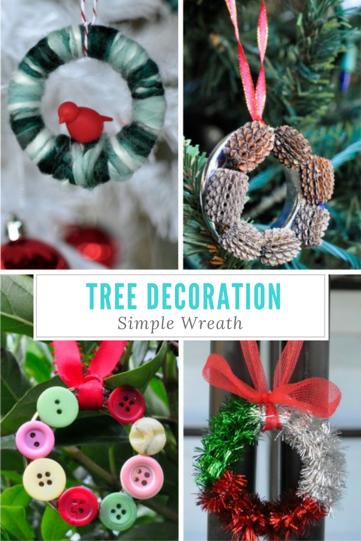 Homemade Christmas Tree Decoration - Wreath
