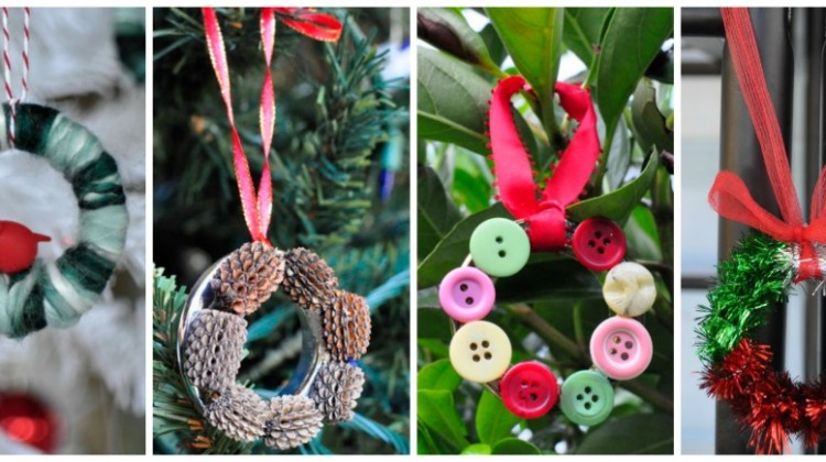 Simple Wreath Tree Decorations