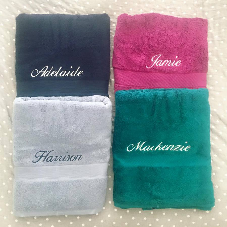 Colour-coded towels for kids