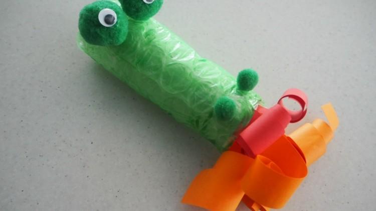 Cardboard Roll Dragon Craft