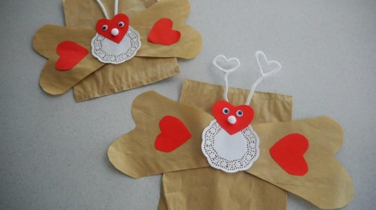 Love Bug Paper Bag Puppet