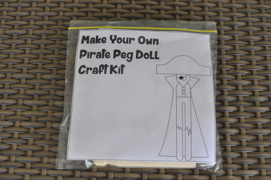 Pirate Peg Doll Craft Kit