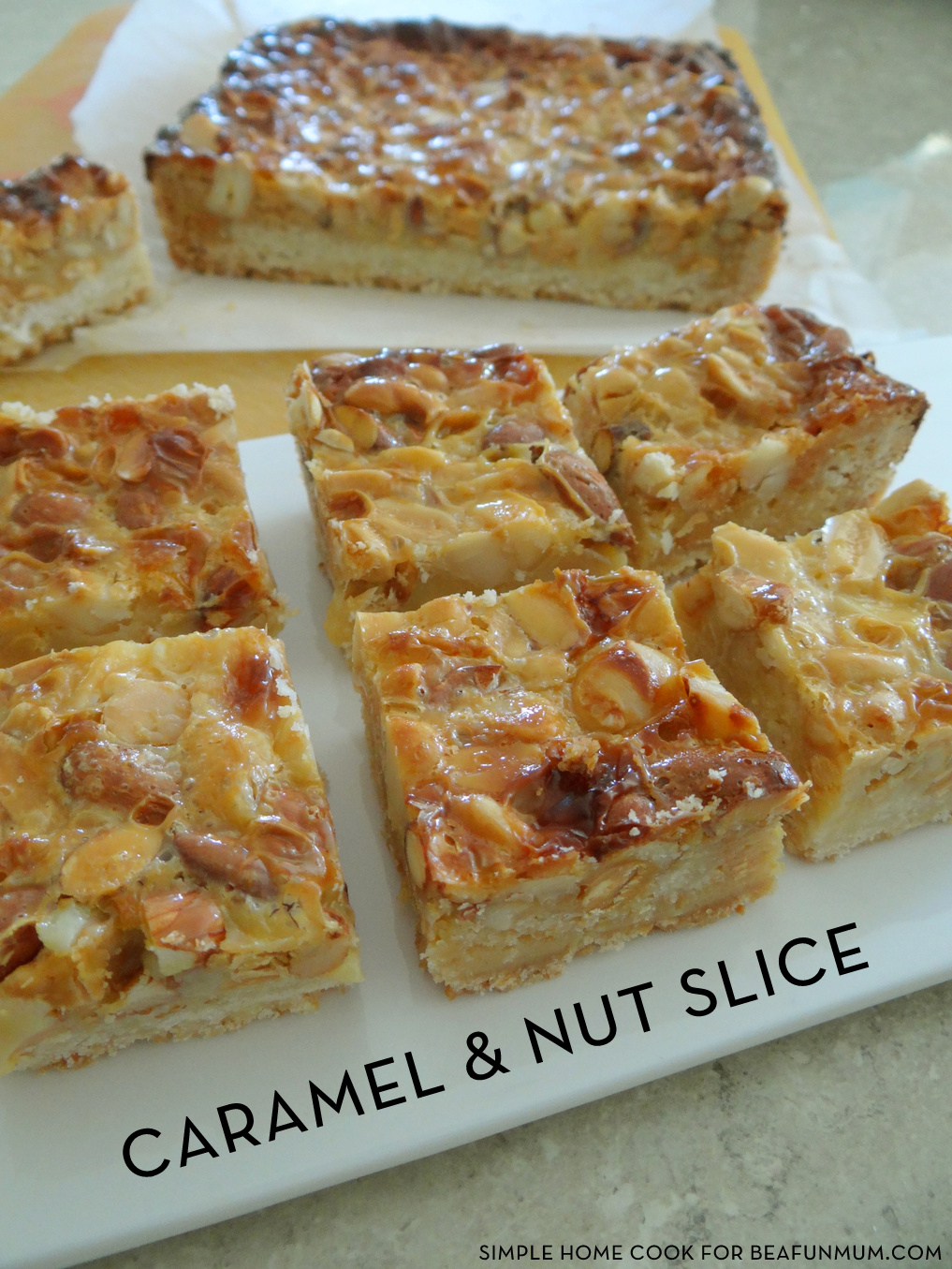 Caramel and Nut Slice Recipe