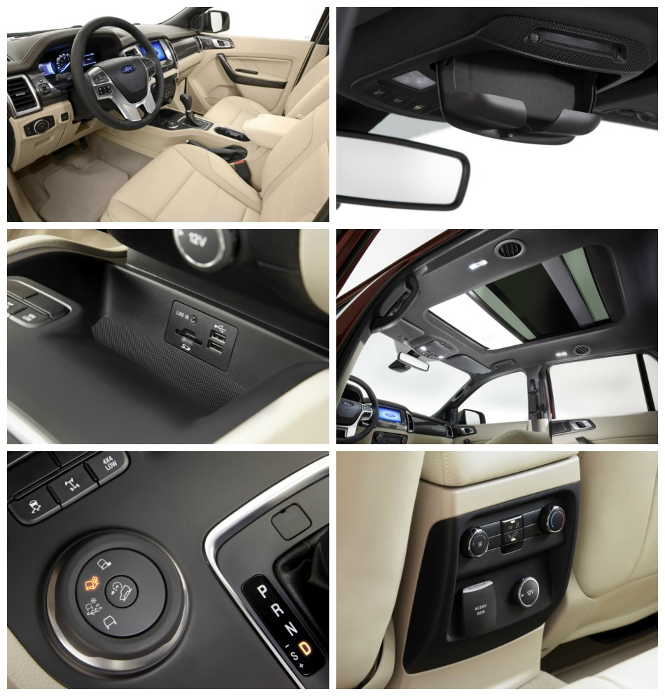 ford everest inside features