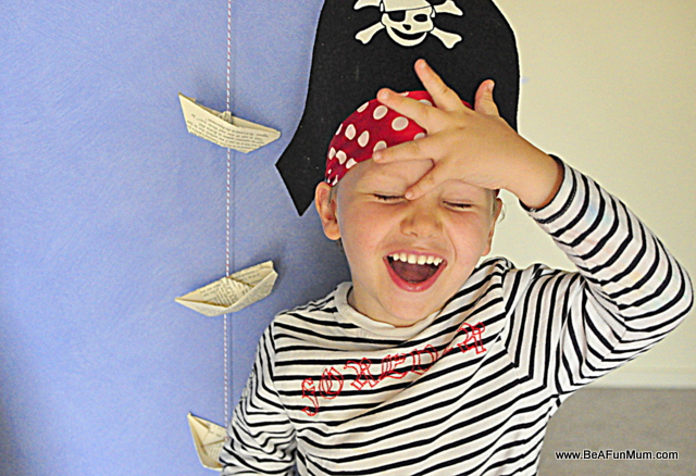 pirate hat, paper boats