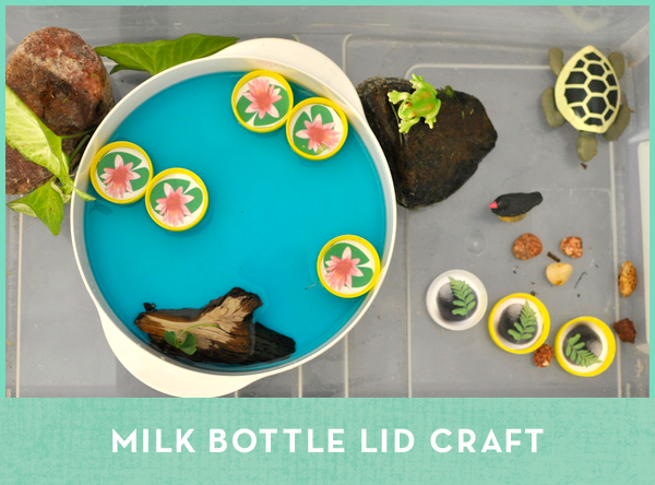 Milk Bottle Lid Craft - Be A Fun Mum