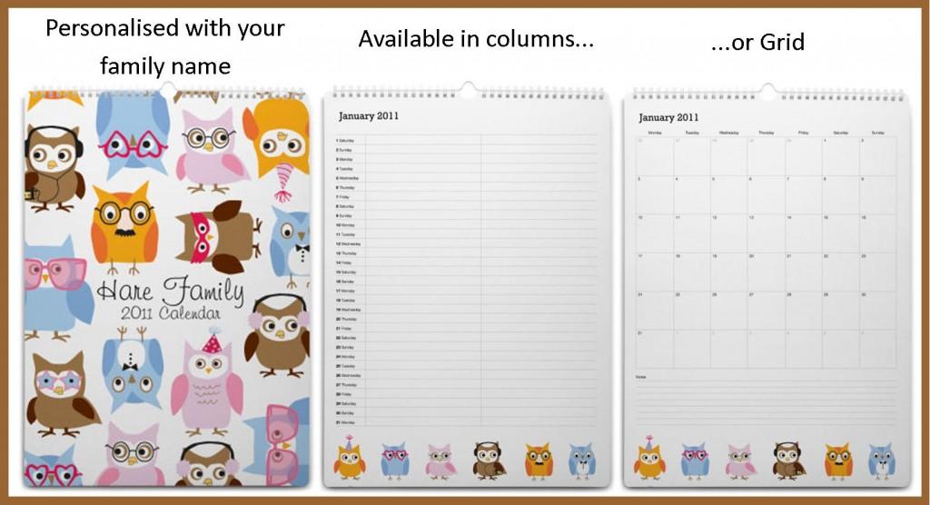 Mooo family calendar