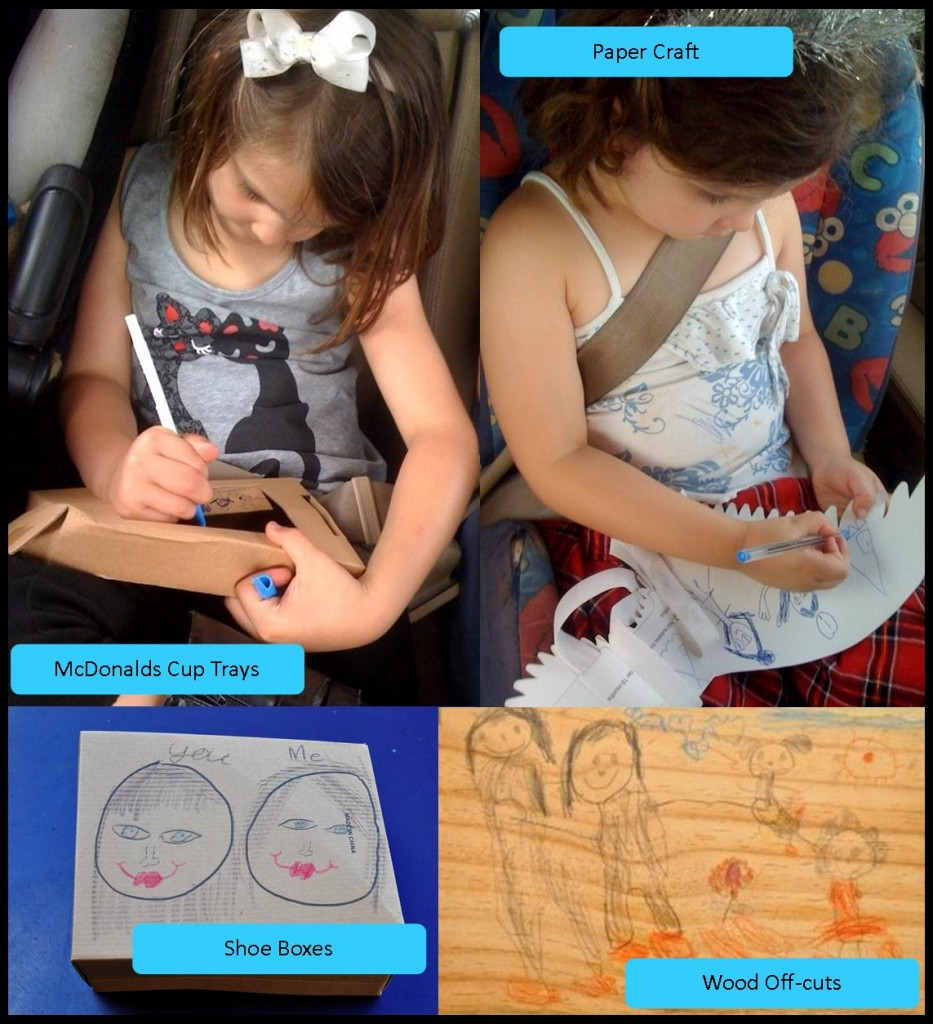 Creative Kids drawing on different materials