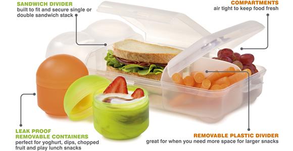 smash rubish free lunch box