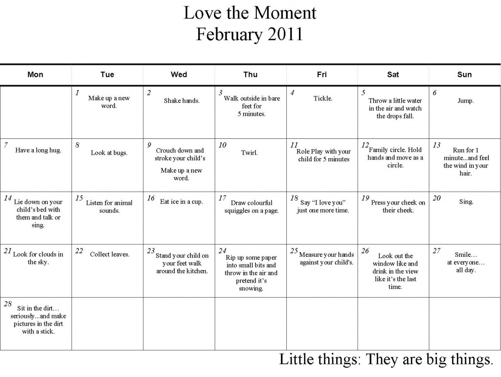 Love the Moment Challenge February