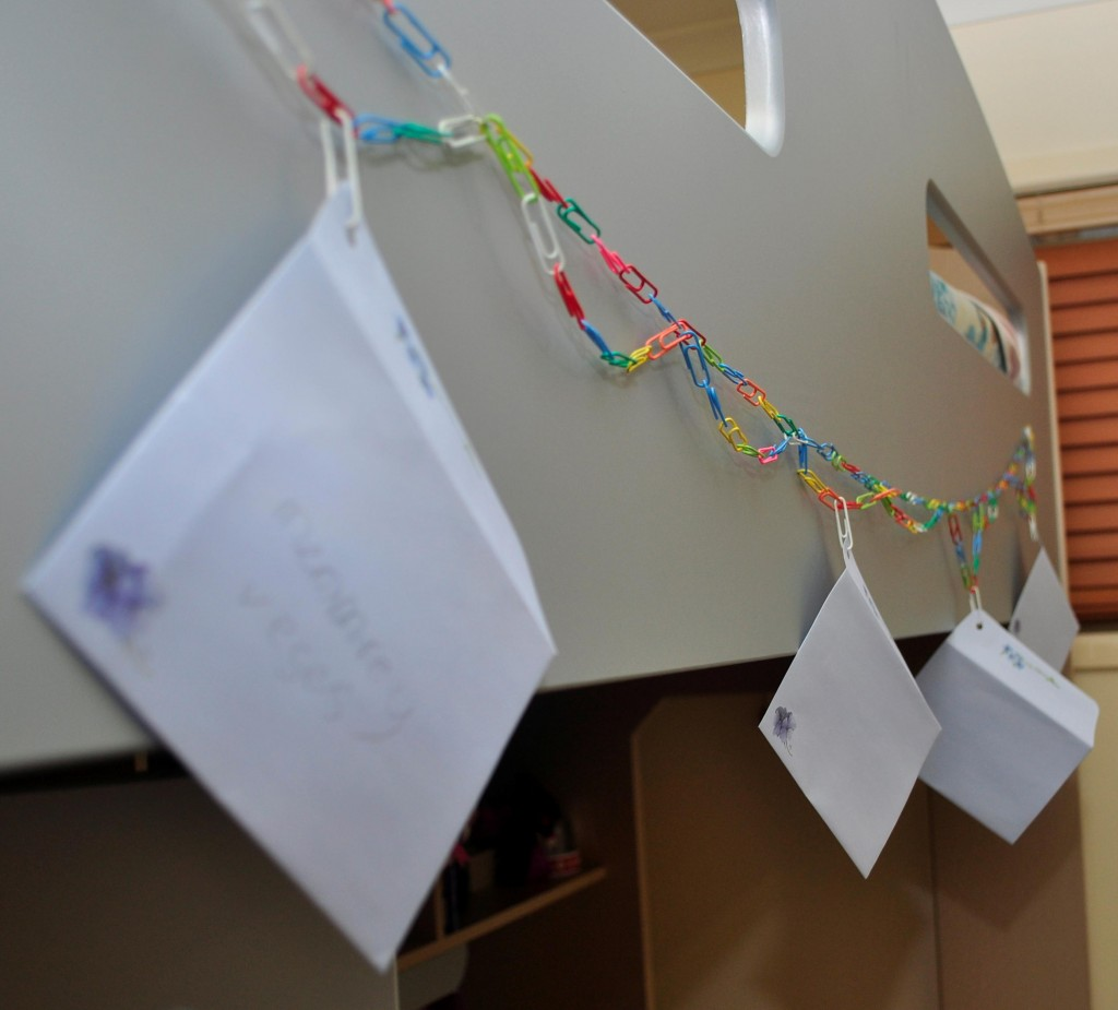 Paper clip message chain