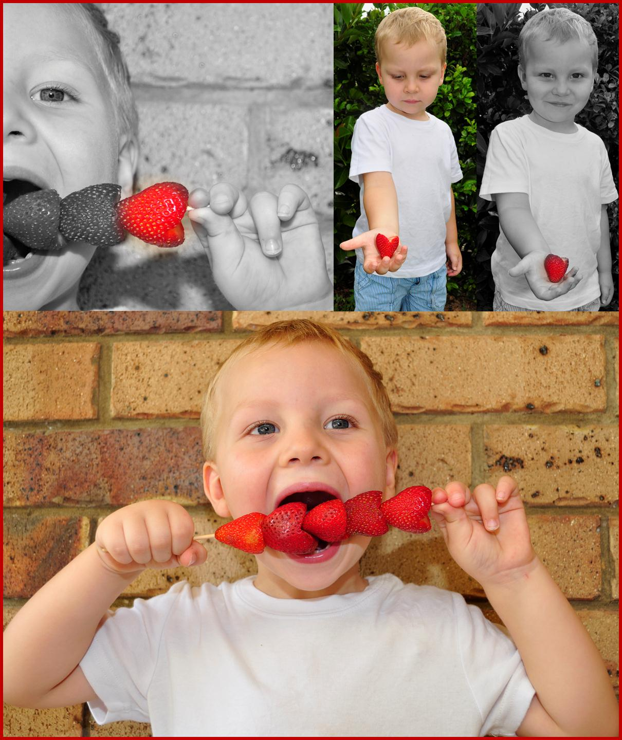 valentines day craft idea strawberry hearts