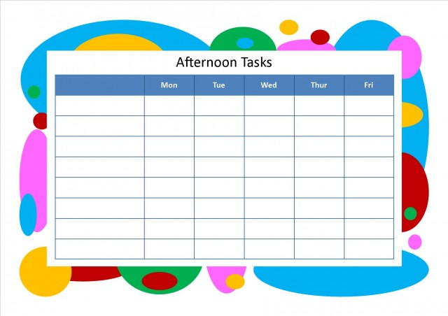 afternoon_tasks Chore Chart