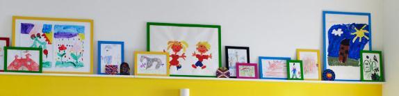 ikea framing children's artwork
