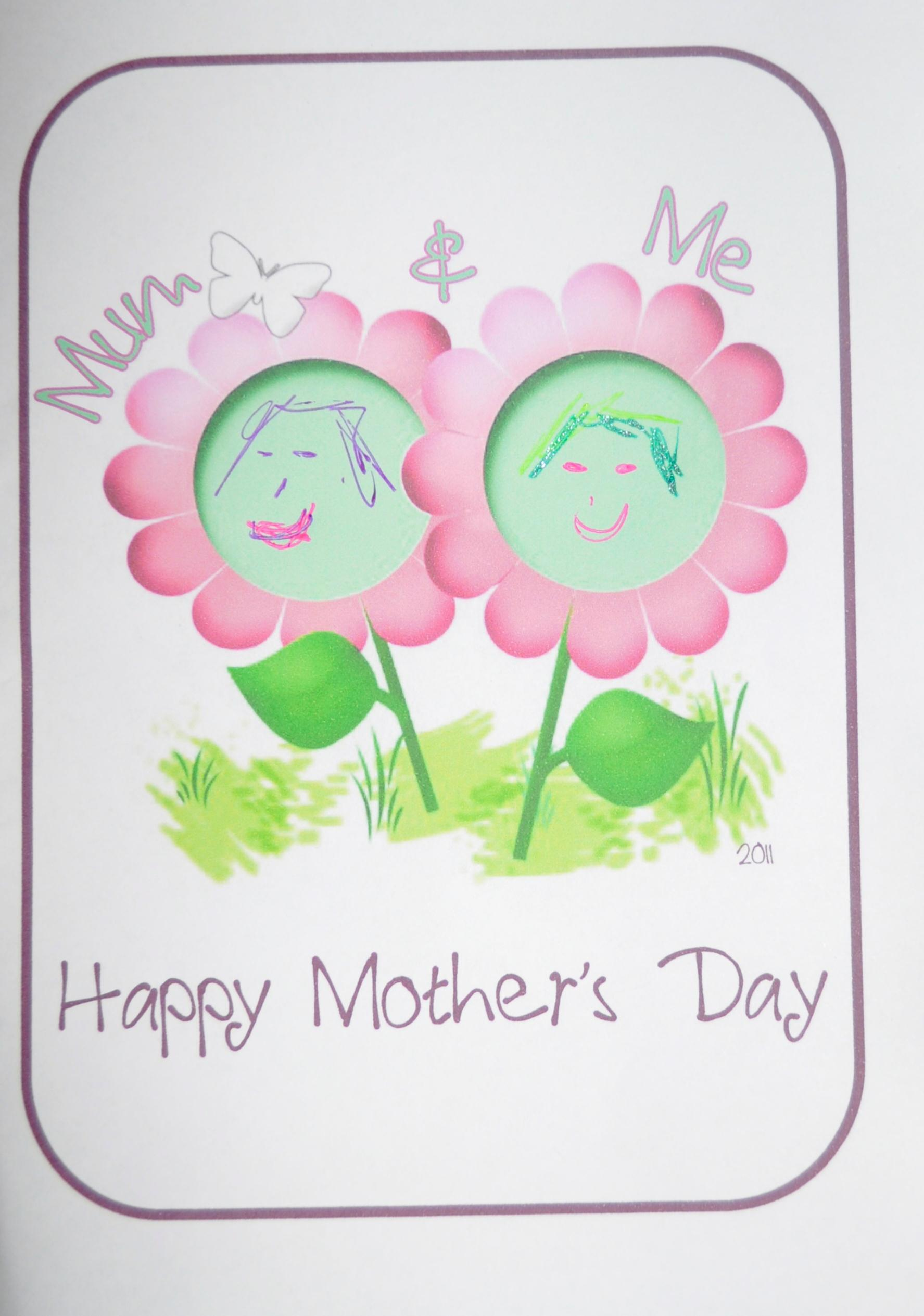 Mothers day craft mum and me card be a fun mum happy mothers day card 2 kristyandbryce Image collections