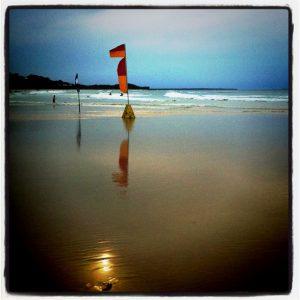 aussie beach at dusk