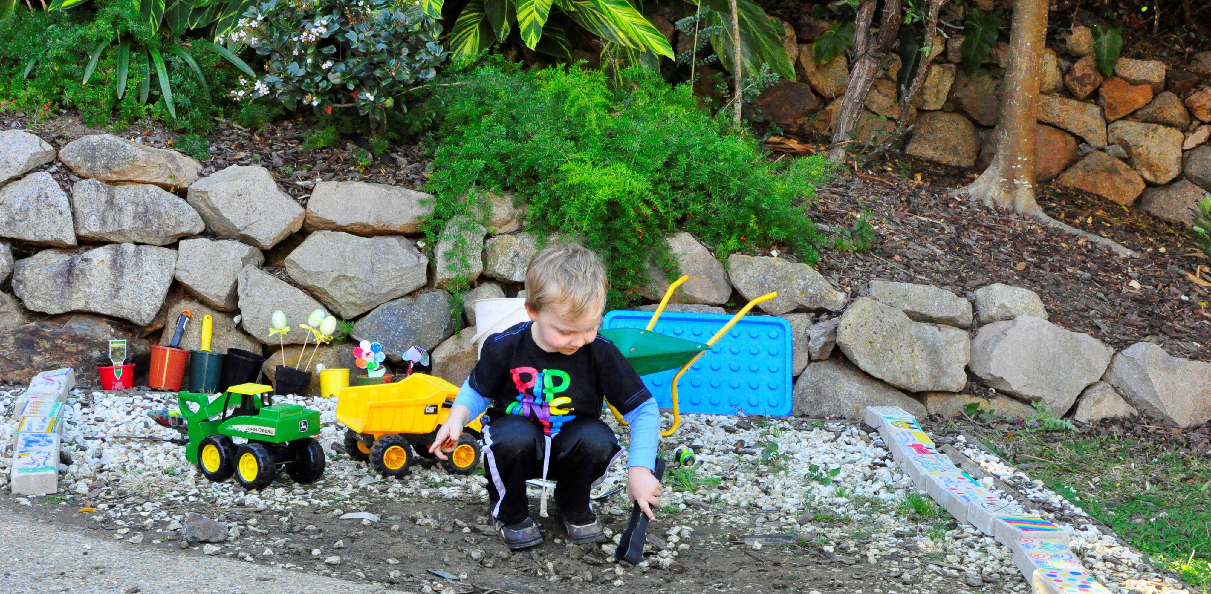 A rock play garden be a fun mum for The landscape gardener