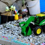 imaginative play space -- rock garden