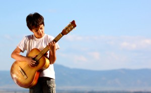 activities for children 8 - 12: playing music