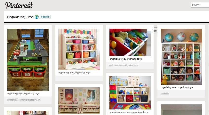 pinterest organising toys / organizing toys