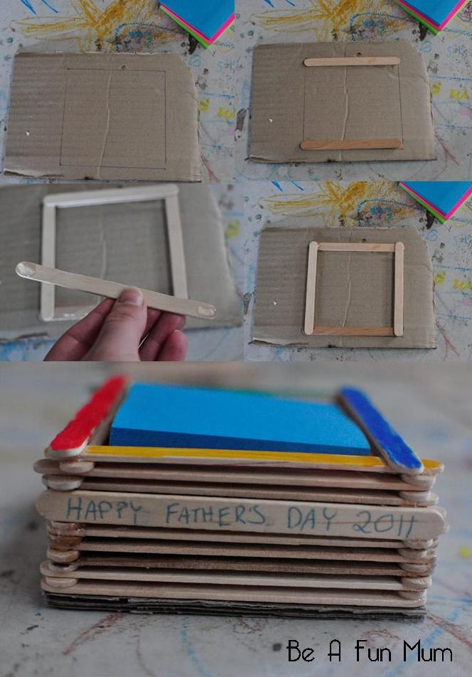 Father's Day craft Ideas -- Sticky Note Holder