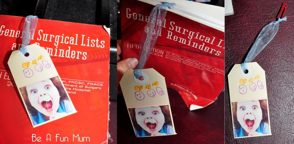 father's day craft idea -- bookmark