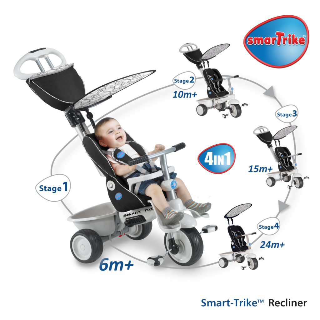 smart trike 4 in 1 recliner
