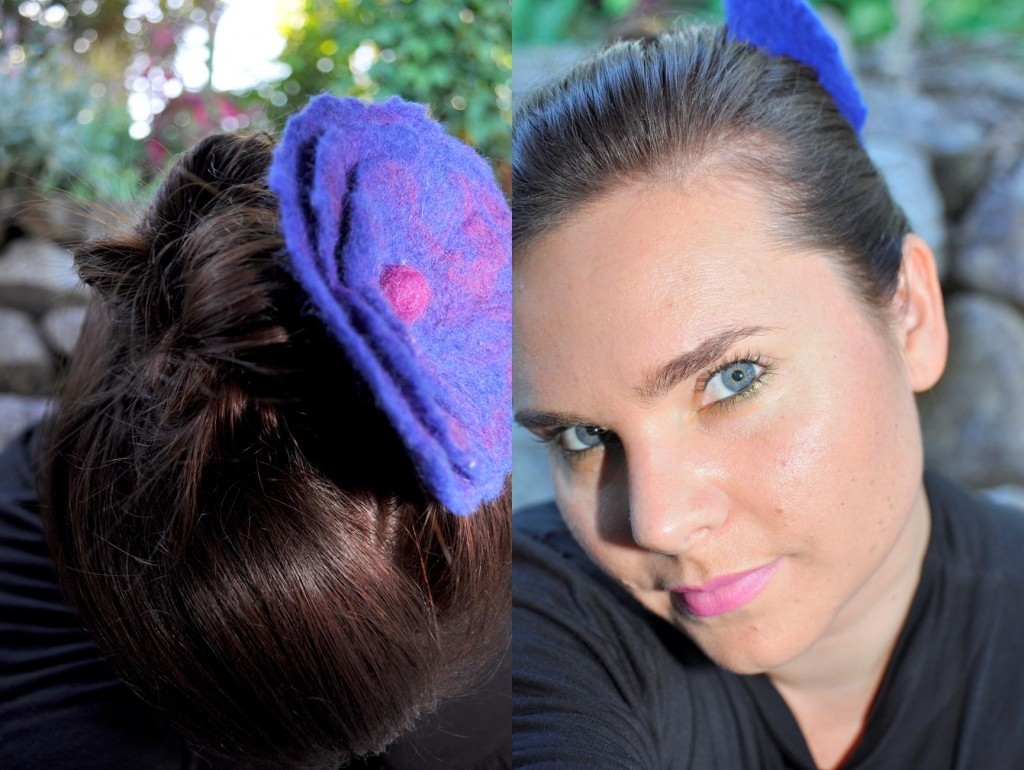 hair style for mums -- brooch flower