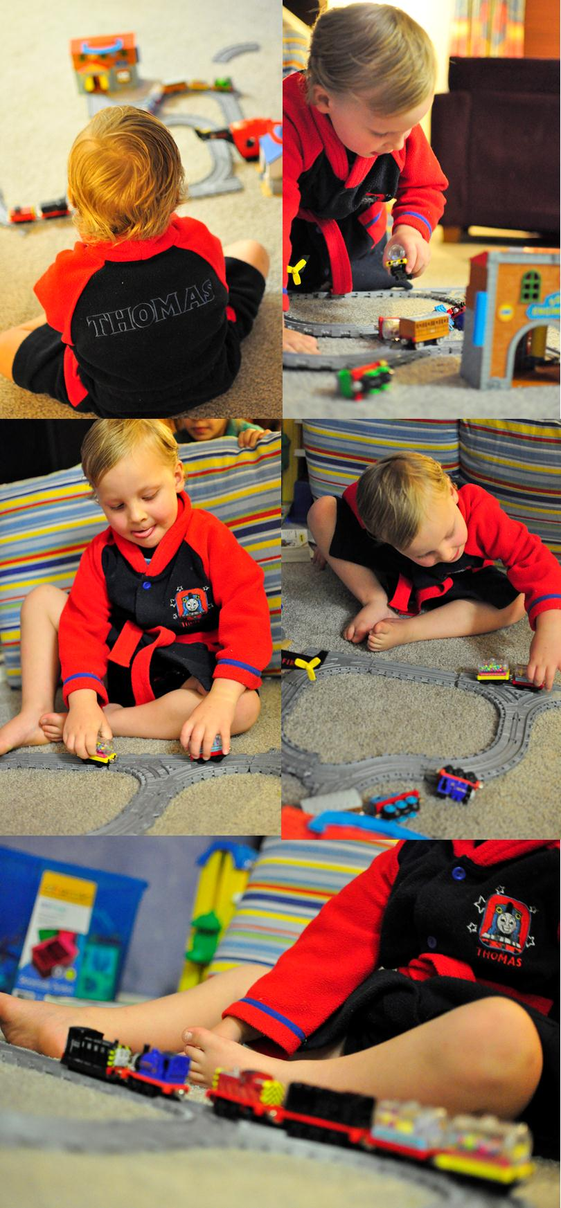 playing with Thomas the Tank Engine Play Set Trains