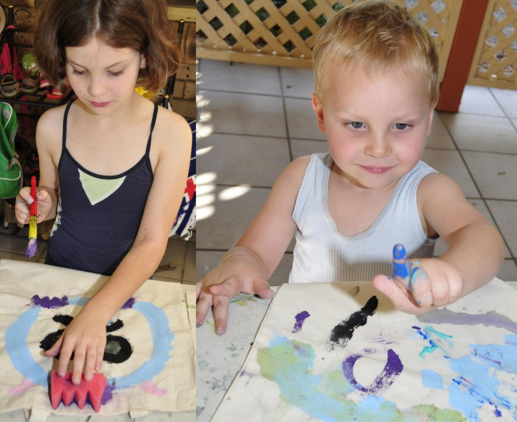 school holiday ideas painting