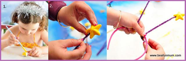 Christmas Star Headband and Want Instructions