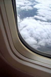 View outside plane window