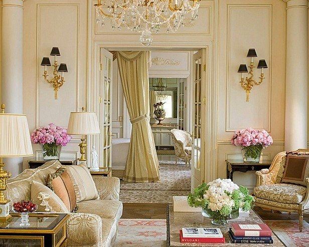 French Design: living room decorating ideas elegant interior design french room light colors eclectic home decor ideas