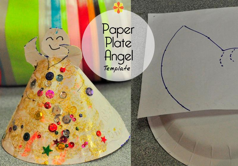 Paper Plate Angel Template