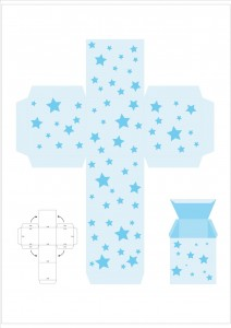 star gift box template
