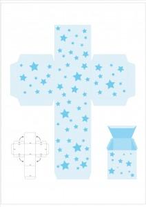 star gift box template