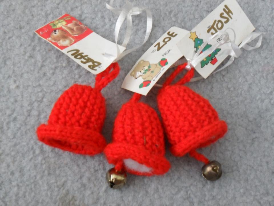 handmade Christmas decorations -- bells