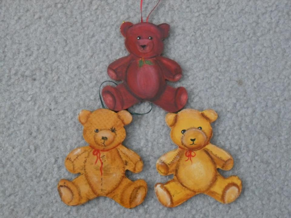 handmade Christmas decorations -- bears