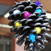 pine cone hanging decoration