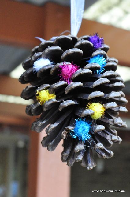 pine cone hanging decoration