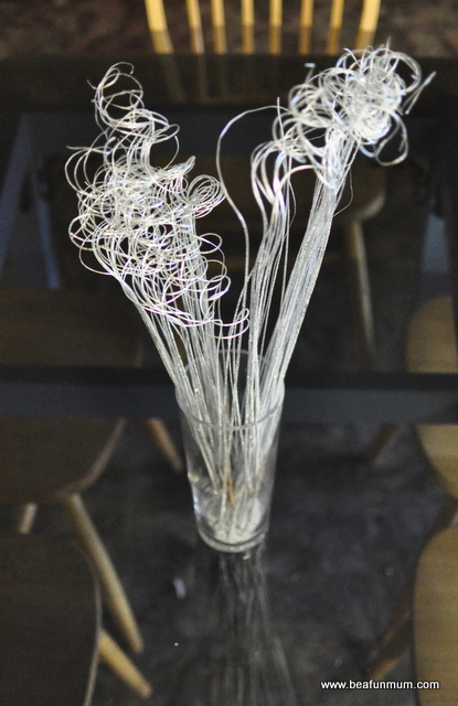 decorative twigs use for Christmas Table Decoration