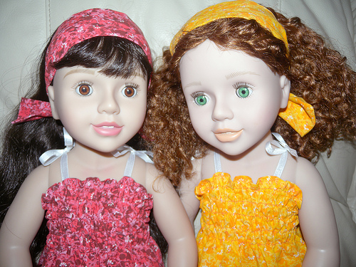 australian girl dolls belle and matilda