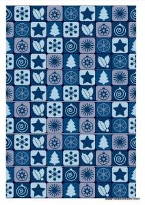 christmas paper chain -- blue christmas tree