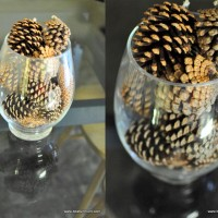pine cone table feature
